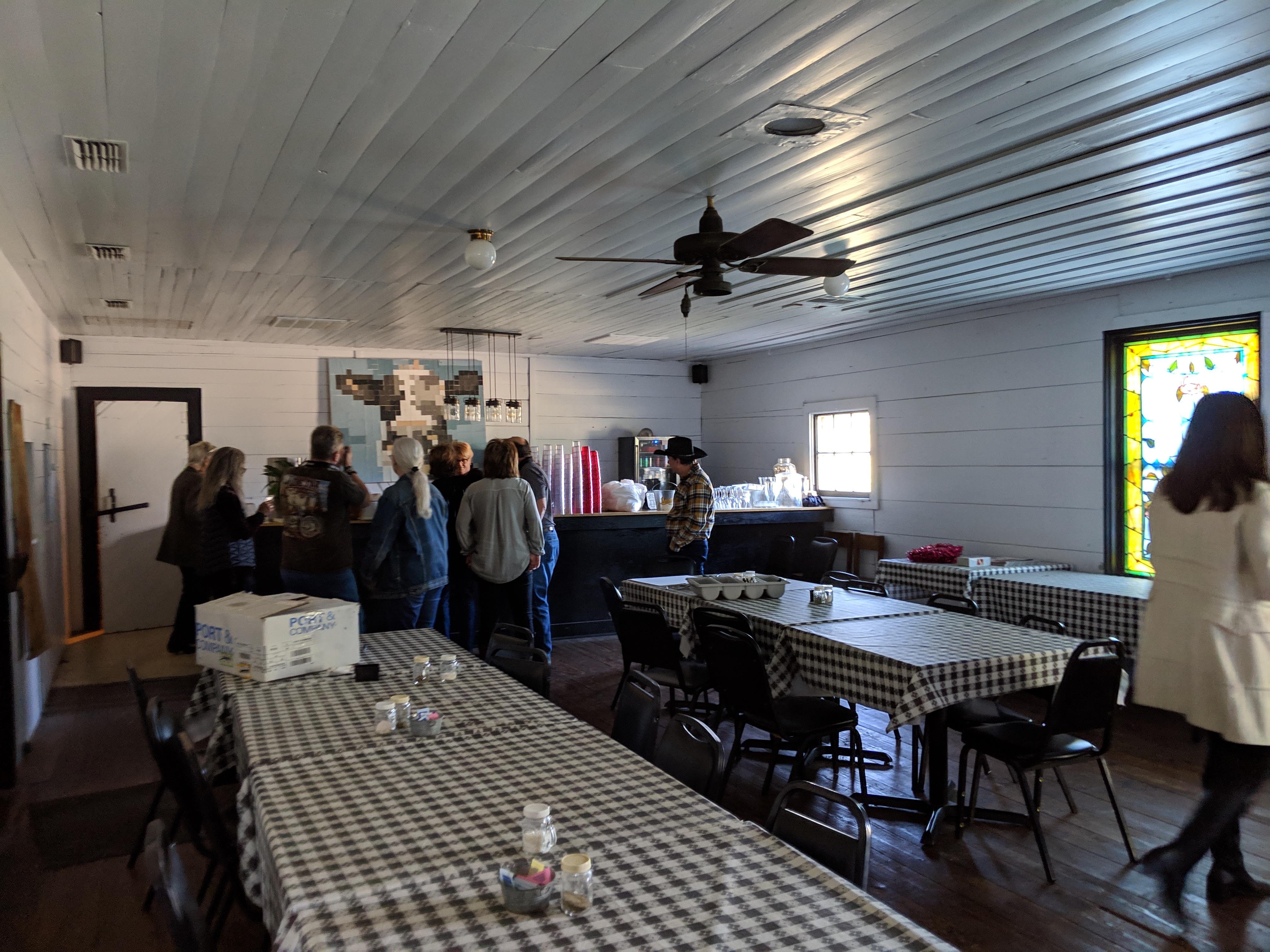 Dining area in bar area