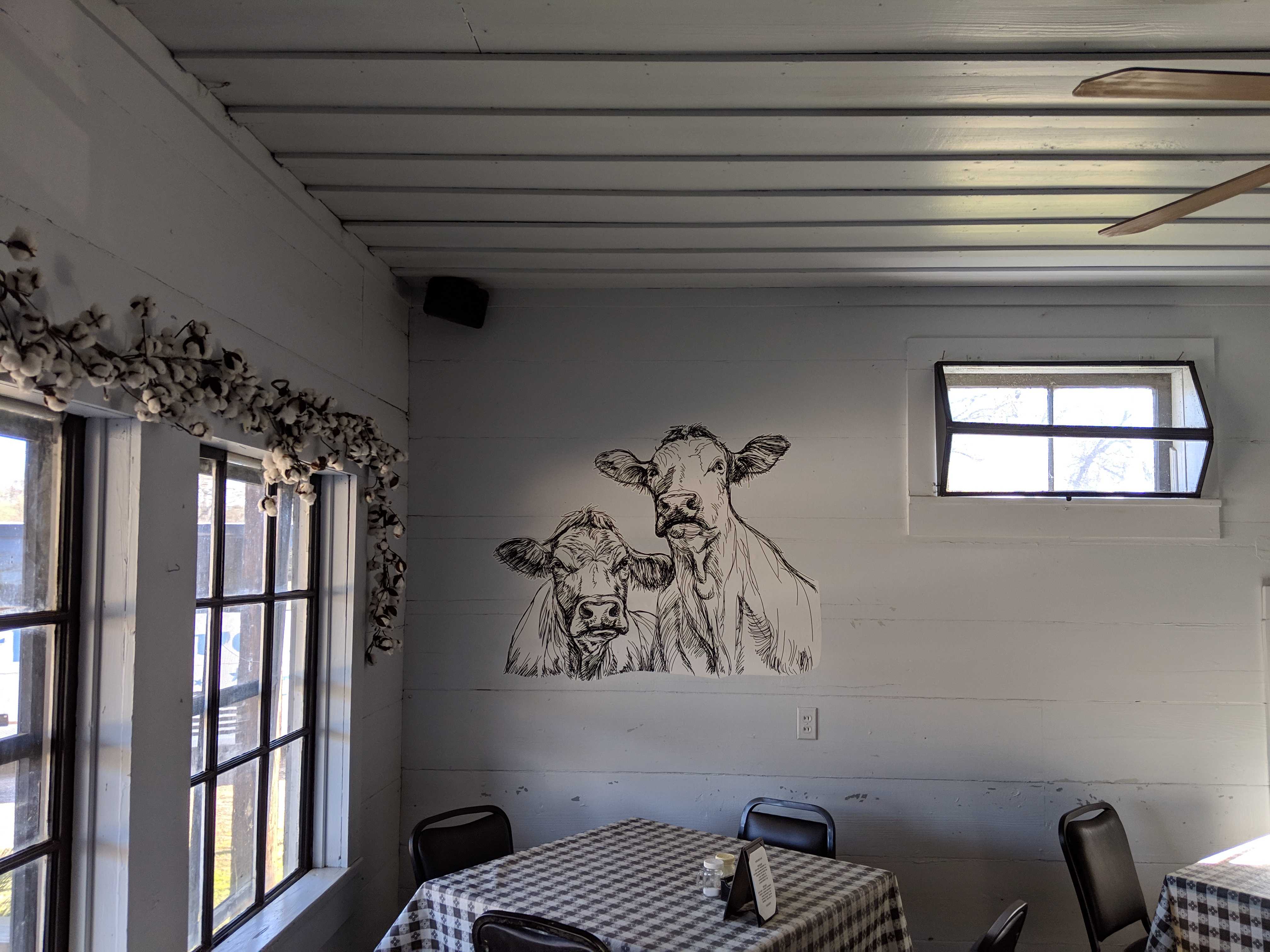 cattle drawing on wall