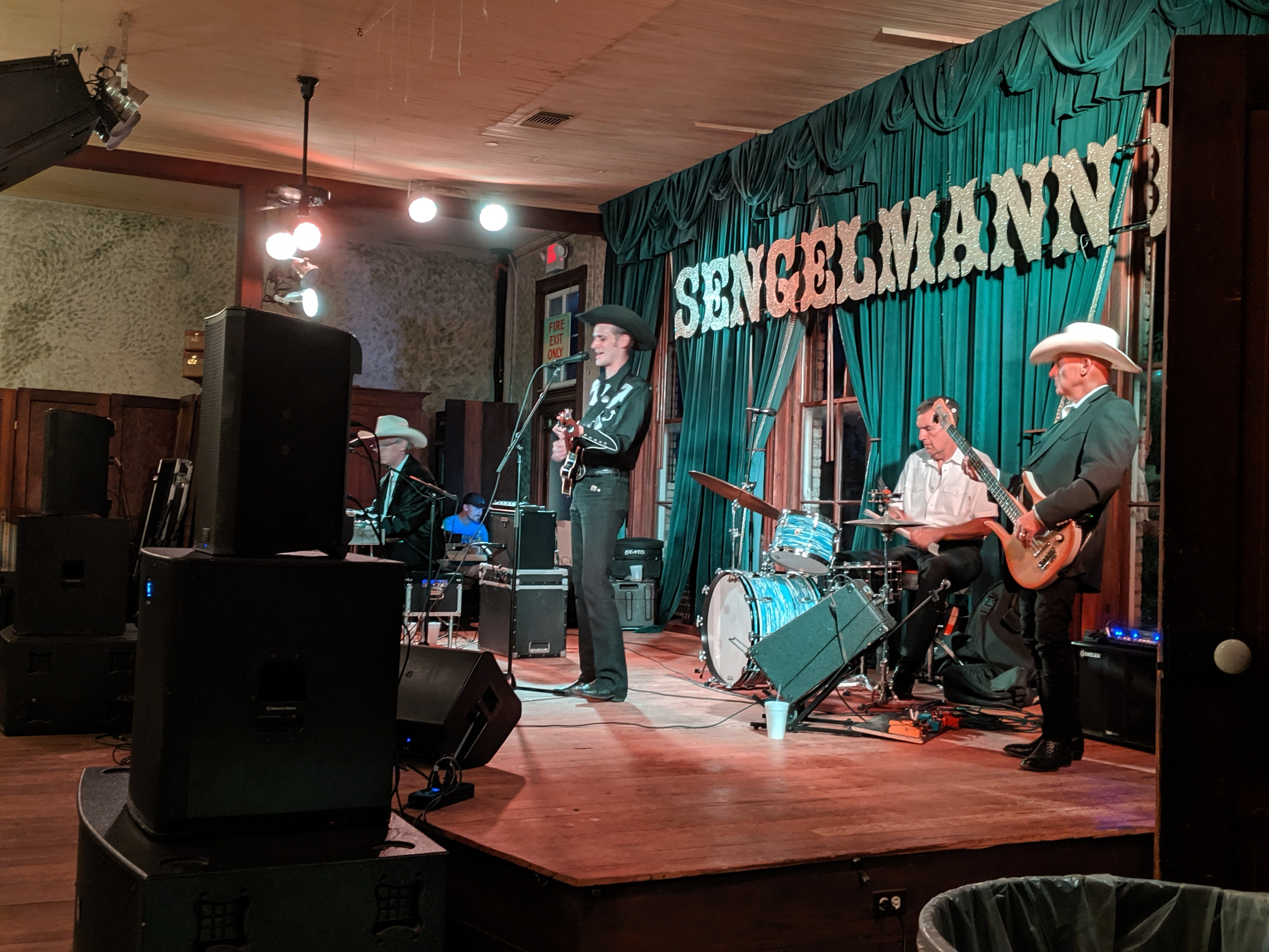 Jake Penrod and his band playing on stage