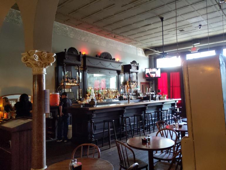 mahogany bar