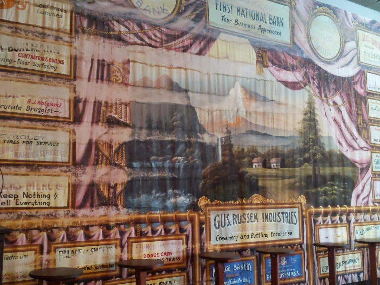 Old ads on the wall