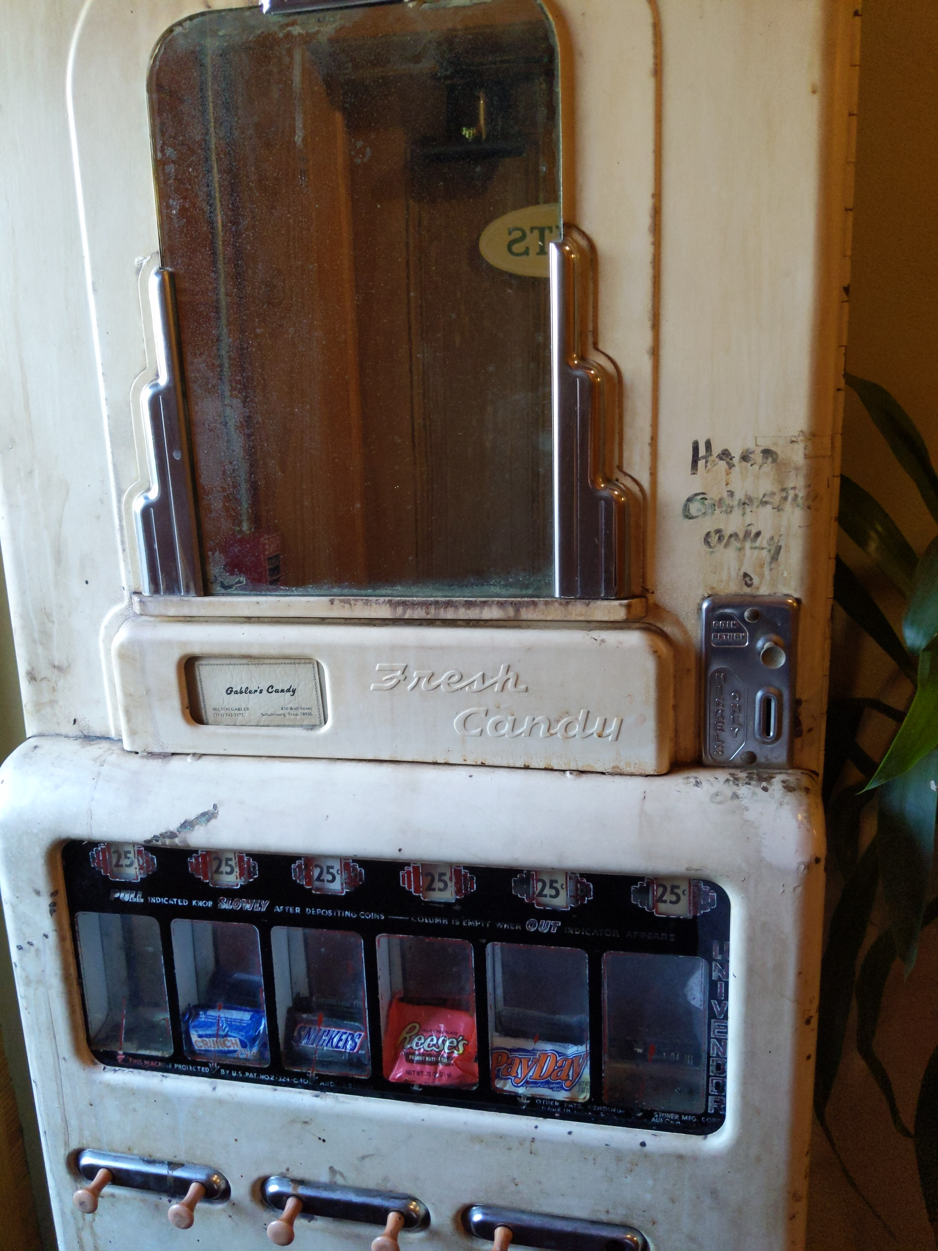 old candy dispenser