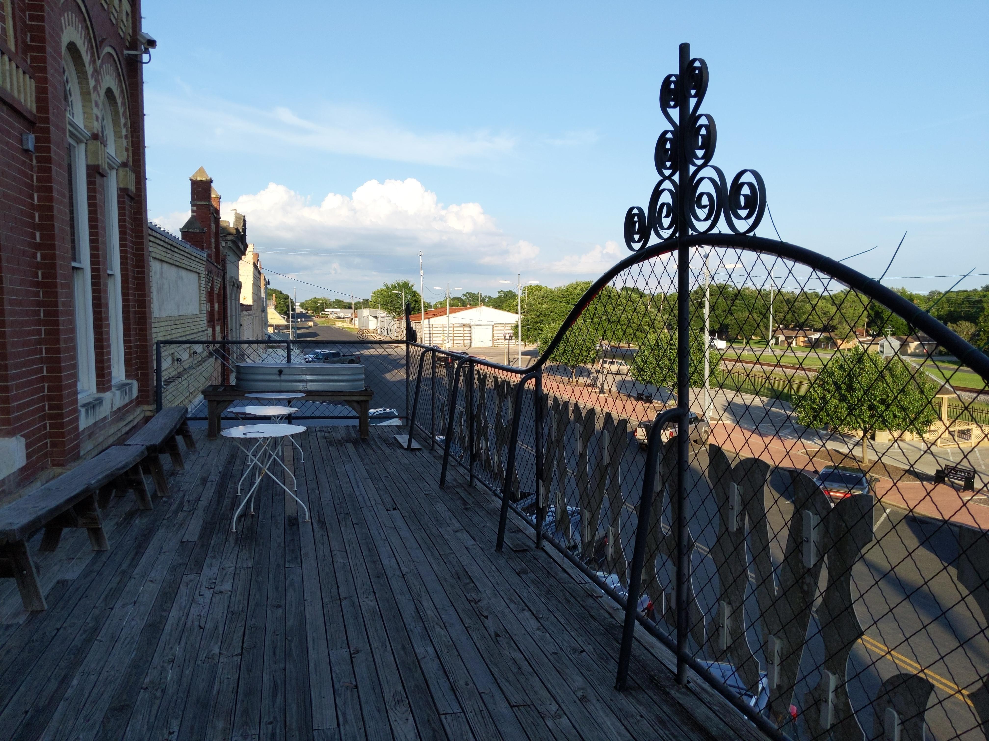 balcony looking over Main street