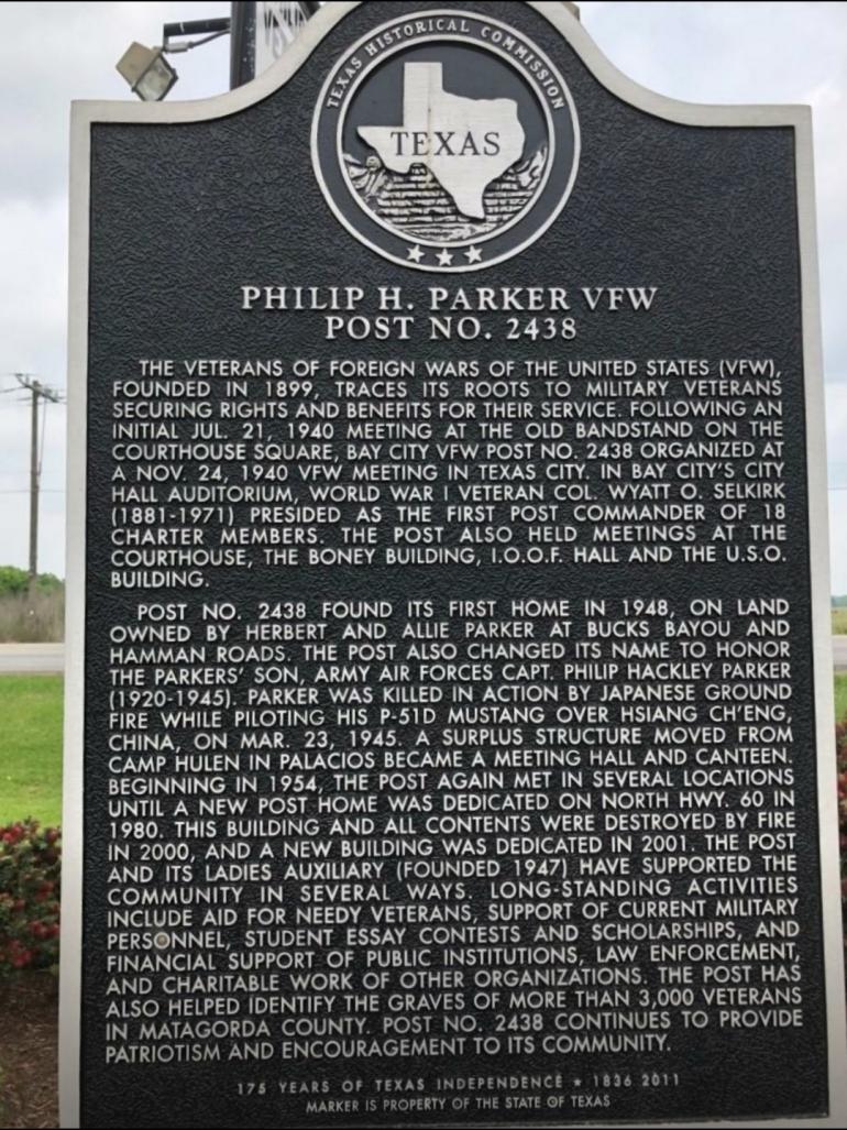 Parker VFW marker